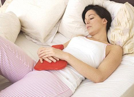 Trị đau bụng sau sinh